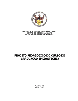projeto pedagógico do curso de graduação em zootecnia - CCA-UFES