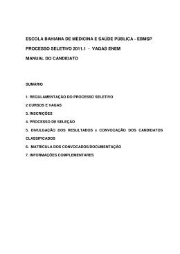ebmsp processo seletivo 2011.1 - vagas enem manual
