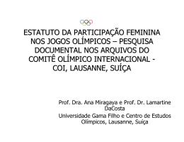 Estatuto da participação feminina nos Jogos