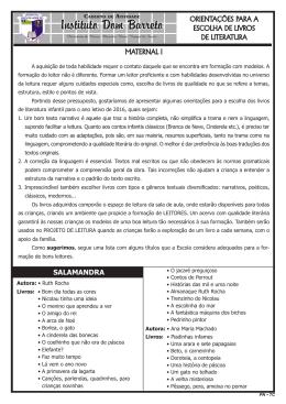 Maternal I - Instituto Dom Barreto