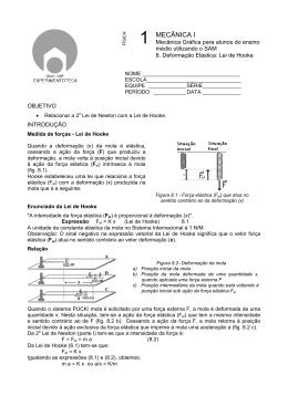 Deformação Elástica: Lei de Hooke