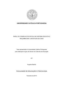FACULDADE DE EDUCAÇÃO E PSICOLOGIA