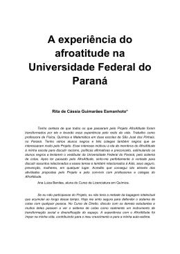 A experiência do afroatitude na Universidade Federal do Paraná