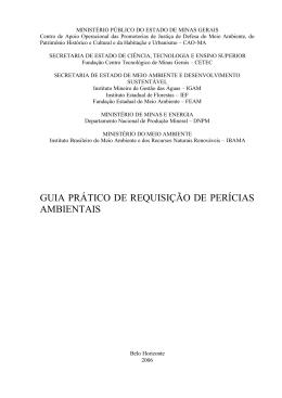 guia prático de requisição de perícias ambientais (mpmg)