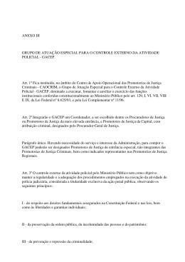 ANEXO III GRUPO DE ATUAÇÃO ESPECIAL PARA O