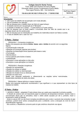Química A - Colégio Amorim