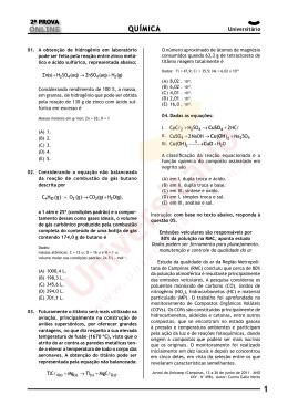 Simulado Online 2014/2 | Prova de Química