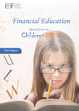 Financial Education – Special Focus on Children & Youth