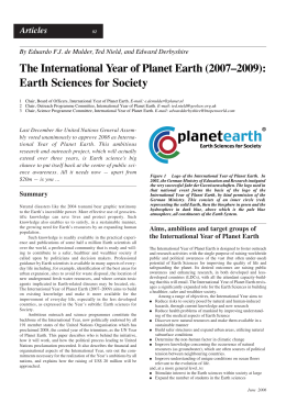 The International Year of Planet Earth (2007–2009)