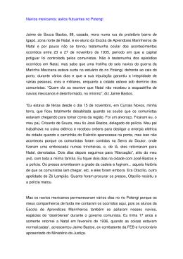 Navios mexicanos: asilos flutuantes no Potengi Jaime de