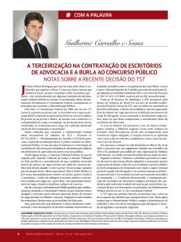 Guilherme Carvalho e Sousa Já - Guilherme Carvalho Advogados