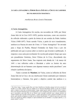 A Carta Atenagórica. A Carta Atenagórica foi escrita, em novembro