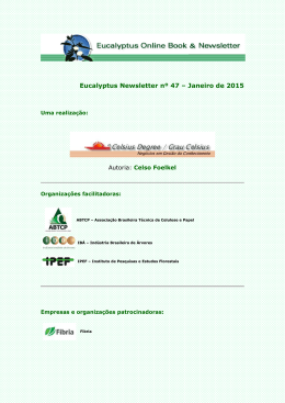 Eucalyptus Newsletter 47 - O informativo digital do eucalipto