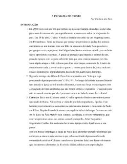 A PRIMAZIA DE CRISTO - Unasp Engenheiro Coelho
