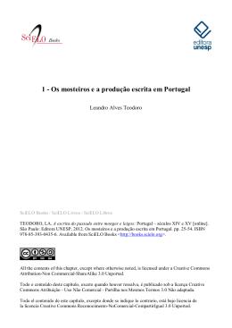 1 - Os mosteiros e a produção escrita em Portugal