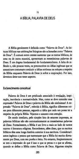 A BÍBLIA, PALAVRA DE DEUS