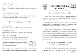 Arquivo Segundo Encontro - Arquidiocese da Paraíba