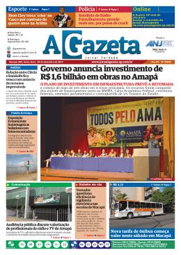 Governo anuncia investimento de R$ 1,6 bilhão