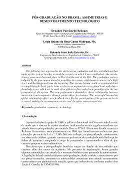 Pós-graduação no Brasil: assimetrias e desenvolvimento