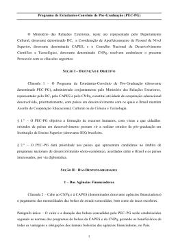 Protocolo do PEC-PG - Ministério das Relações Exteriores