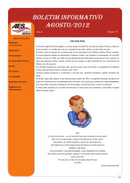Boletim Agosto 2012 - Associação dos Empregados do SENAI