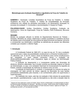 Metodologia para Avaliação Quantitativa e Qualitativa da