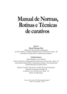 Manual de Normas, RotinaseTécnicas decurativos