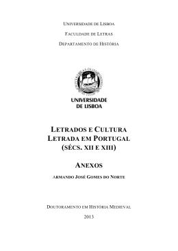 Letrados e cultura letrada em Portugal