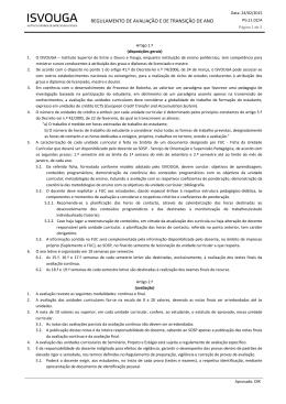 regulamento de avaliação e de transição de ano
