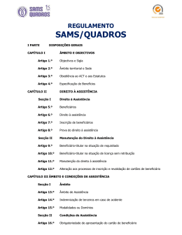 regulamento sams/quadros