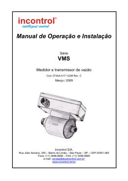 Manual do Medidor de Vazão Magnético em PVC modelo