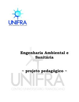Engenharia Ambiental e Sanitária ~ projeto pedagógico ~