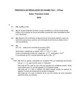 PROPOSTA DE RESOLUÇÃO DO EXAME FQ11 – 2ªFase