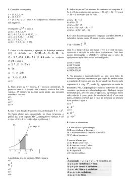 Parte l - Prova de Matemática e Química