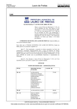 Lei nº 1523/2014