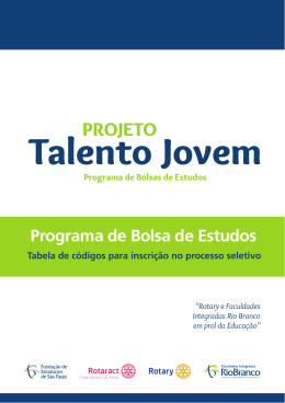 Talento Jovem - Faculdades Integradas Rio Branco