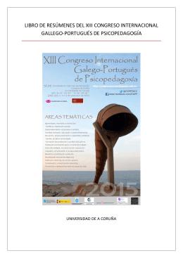 libro de resúmenes del xiii congreso internacional gallego