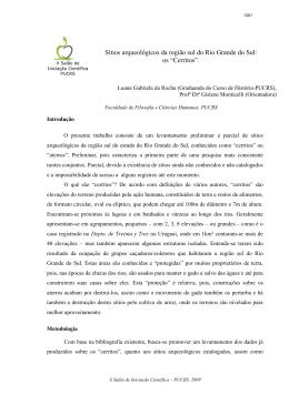 Sítios arqueológicos da região sul do Rio Grande do Sul