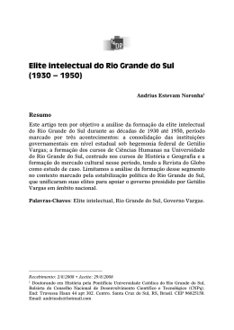 Elite intelectual do Rio Grande do Sul (1930 – 1950)