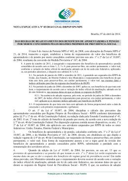 Nota Explicativa nº 03/2014 - Ministério da Previdência Social