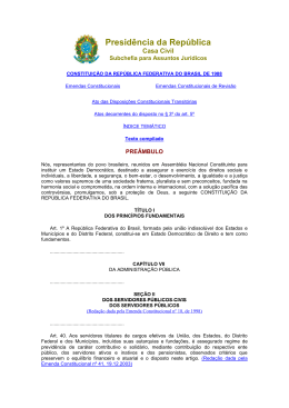 Presidência da República - Secretaria de Estado da Casa Civil