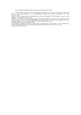 termo de execução descentralizada nº 38/2014