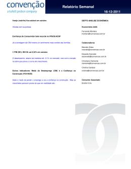 Relatório Semanal 16-12-2011