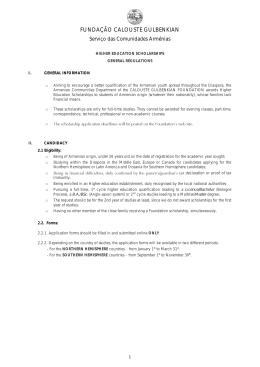 higher education scholarships regulations