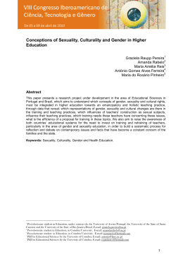 Conceptions of Sexuality, Culturality and Gender in Higher Education