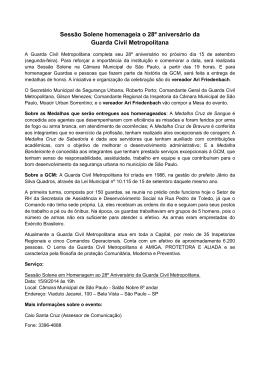 28º Aniversário da Guarda Civil Metropolitana