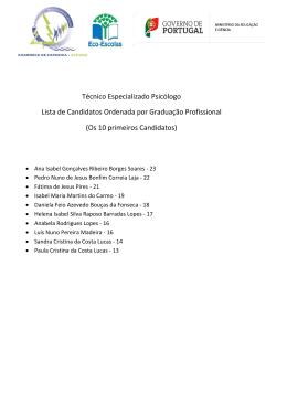 Lista graduada de candidatos