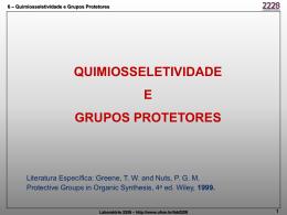 QUIMIOSSELETIVIDADE E GRUPOS PROTETORES