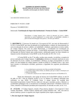 PARECER Nº 193/2011–CEDF Processo nº 410.000919/2011