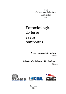 Ecotoxicologia do Ferro e seus Compostos